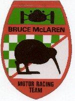 original bruce mclaren racing decal